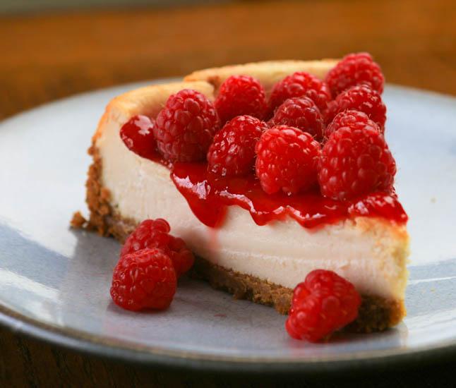 Veganized! Beth's Raspberry Cheesecake