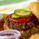 Pickles on Black Bean Burger