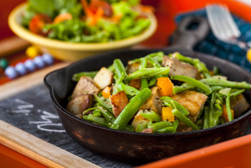 Meatless Monday: Tofu Skillet Supper a One Dish Meal